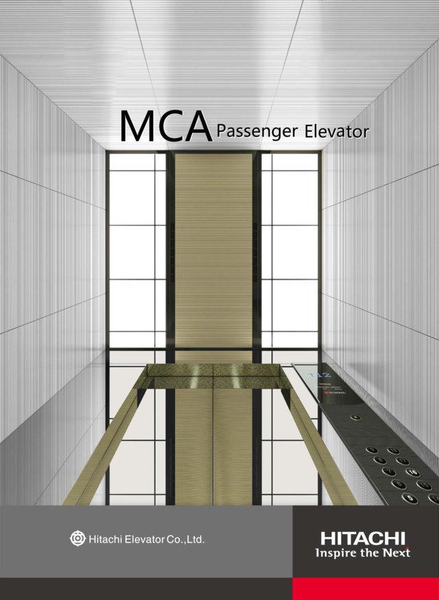 Thang máy chở khách có phòng máy Hitachi